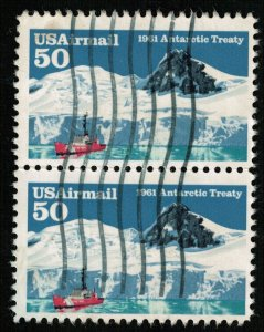 Antarctic Treaty 1961, 50 cents, SC #C130, USAirmail, Block (T-6783)