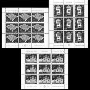 YUGOSLAVIA 1975 - Scott# 1281A-3A Sheets-Architecture NH