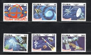 CUBA Sc# 2321-2326  SPACE    INTERCOSMOS PROGRAM Cpl set of 6    198  MNH mint