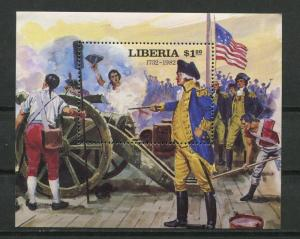 Liberia 1982 Souvenir Sheet Sc 943 MNH Battle of Yorktown