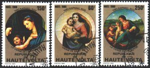 Upper Volta. 1980. 814-16. Raphael, painting, madonna. USED.