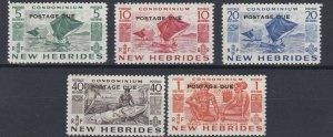 NEW  HEBRIDES  1953  S G  D11 - D15  POSTAGE DUE SET OF 5    LMH
