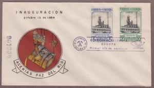 Colombia # 633 & # C267 , Steel Mill Opening FDC - I Combine S/H