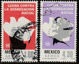 MEXICO C583-C584, Anti-Apartheid Year. Used. F-VF. (818)