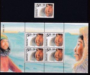 Greenland 2005 , MNH  Child  Single + S/Sheet # B30-B30a