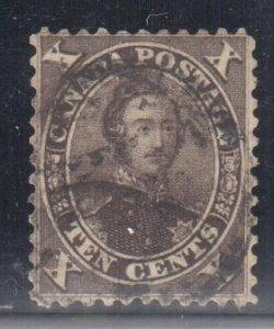 Canada #16 VF Used - Black brown C8500,00