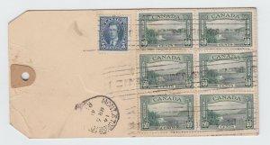 Fabulous 1941 MONEY TAG 6x50c+5c for 10c registration+59 ounces Canada