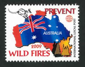 Australia 2009 Wild Fire Comm. Local Post - MNH - Cinderella