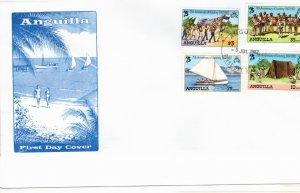 Anguilla 1982 Sc 502-5 Commemorative Perforate FDC