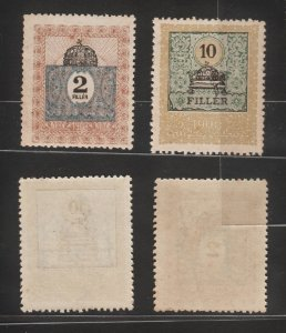 Hungary 1903 Very Old Revenue (King's Crown, 2v) MNH