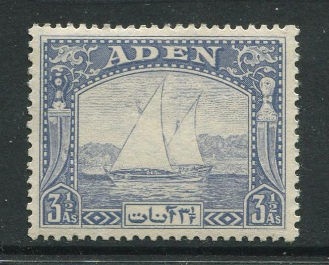 ADEN - Scott 7 - Dhow Issue - 1937- MNH - Single 3.1/2a Stamp