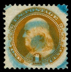 MOMEN: US STAMPS #123 USED VF/XF