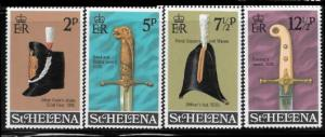 St. Helena 273 - 76 mnh 2013 SCV $5.00 - Officers hats and swords -  1946