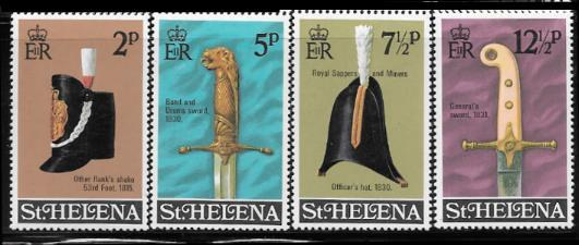 St. Helena 273 - 76 mnh 2013 SCV $5.00 - Officers hats and swords