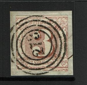 Thurn and Taxis SC# 12, Used, Hinge Rem (Noted Mi# 17), w/ 273 in Cancel - S3777