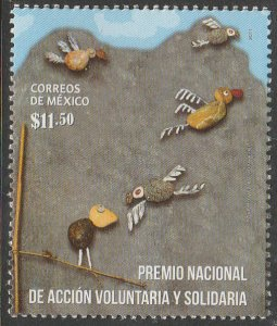 MEXICO 2768, VOLUNTARY ACTION & SOLIDARITY PRIZE. MINT, NH. F-VF.