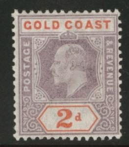 GOLD COAST Scott 40 MH* 1902 KEVII  CV $27.50 CA wmk 2
