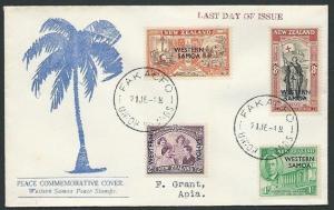 TOKELAU IS 1948 cover last day use Samoa stamps - FAKAOFO cds..............43387