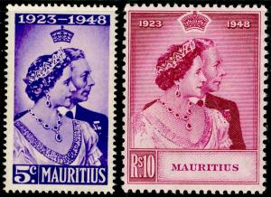 MAURITIUS SG270-271, COMPLETE SET, NH MINT. Cat £17. RSW.