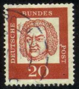 Germany #829 Johann Sebastian Bach; Used (0.25)