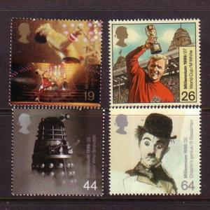 Great Britain Sc 1859-2 1999 Entertainment stamp set mint NH