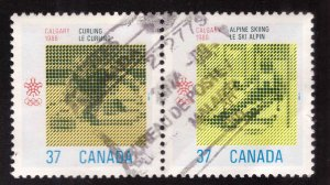 Canada Scott 1096a Used Pair of stamps
