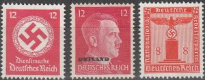 Stamp Selection Germany WWII Fascism Adolf Emblem Ostland Estonia 12 MNG