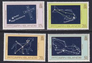 Pitcairn Isl # 244-247, Constellations, NH, Half Cat.