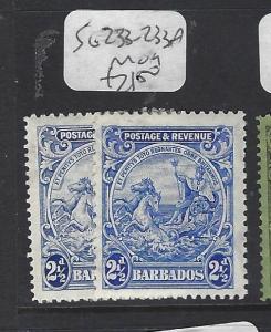 BARBADOS   (PP1910B)   SEAHORSE  2 1/2D  SG 236-236A   MOG