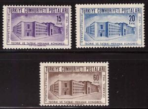 TURKEY Scott 1076-78 MH* stamp set