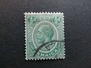 A4P21F9 Jamaica 1921-27 1/2d used