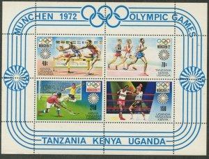 KUT  Sc#253a 1972 Munich Olympics Souvenir Sheet OG Mint NH