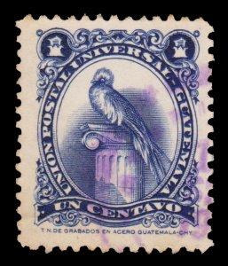 GUATEMALA STAMP 1954. SCOTT # 354. USED. # 1