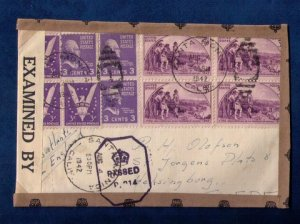 US Sc #904 Block Of Four & Sc #905/Sc #807 (3 Ea) Tied On A Cover to Sweden F-VF