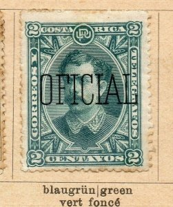 Costa Rica 1899 Early Issue Fine Mint Hinged 2c. Surcharged Optd NW-09196