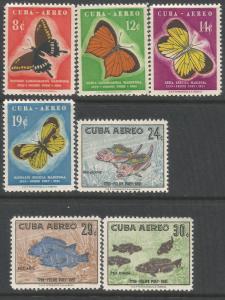 CUBA C185-91 MNH BUTTERFLIES FISHES Z496