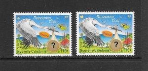 BIRDS - NEW CALEDONIA #1227-28  IT'S A BOY/GIRL   MNH