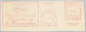 56770 - SPAIN - POSTAL HISTORY: Mechanical Postmark on CUT-OUT 1960 : MEDICINE