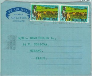 83405  - NIGERIA - POSTAL HISTORY -   COVER to  ITALY - 1973