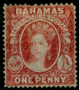 BAHAMAS SG3, 1d Lake, M MINT. Cat £5500.