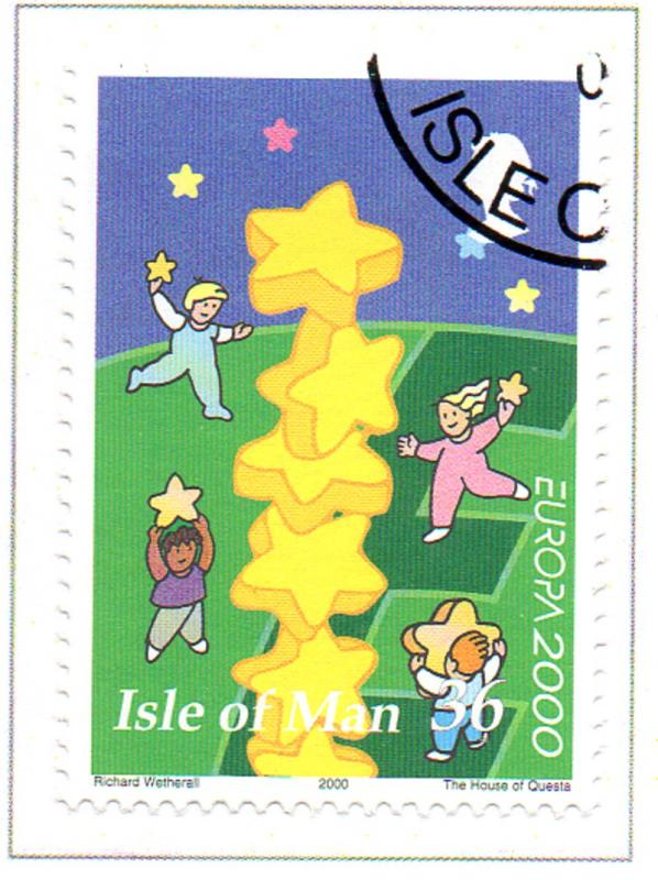 Isle of Man Sc 883 2000 Europa stamp used