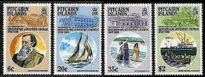 HERRICKSTAMP PITCAIRN ISLANDS Sc.# 277-80 Adventist Church