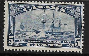 CANADA, 204,  MNH, ROYAL WILLIAM 1833-1933
