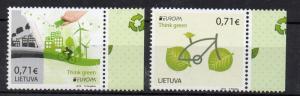 LITHUANIA - 2016 - EUROPA - THINK GREEN -