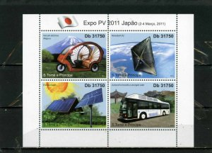 ST.THOMAS & PRINCE ISLANDS 2011 MODERN TRANSPORT SHEET OF 4 STAMPS MNH