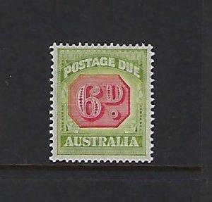 AUSTRALIA SCOTT #J69 1938 POSTAGE DUES PERF 14 1/2 X14 6P - MINT XLIGHT HINGED