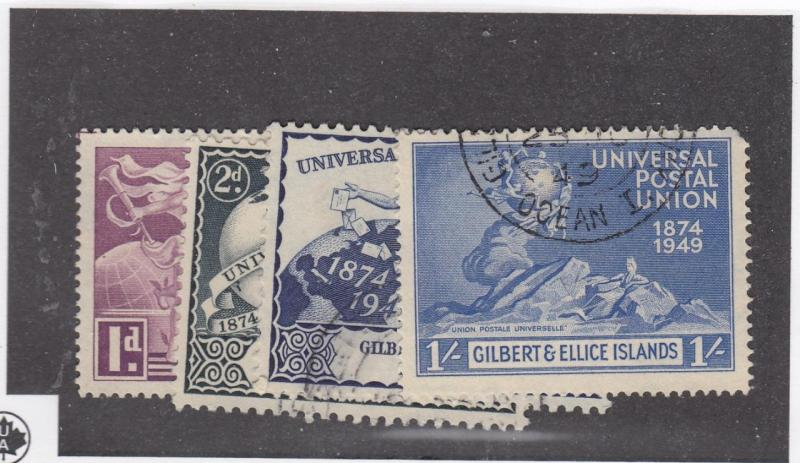 GILBERT & ELLICE ISLANDS (MK3254)  # 56-59  USED  UNIVERSAL POSTAL UNION ISSUES