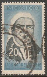 MEXICO 967, 20c Jose Maria Morelos Death Anniv. Used VF. (125)