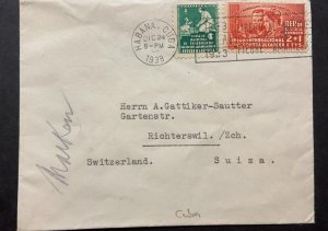 O) 1938 CUBA, MEDICINE, TUBERCULOSIS, PIERRE AND MARIE CURIE, SURTAX FOR THE BEN