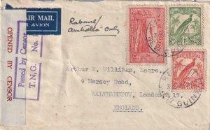 1941, Rabaul, New Guinea to London, England, Censored, See Remark (C4264)